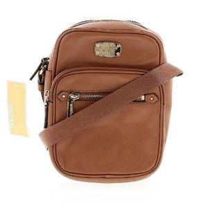 Michael Kors Bedford Zip Leather Flight Bag NWT